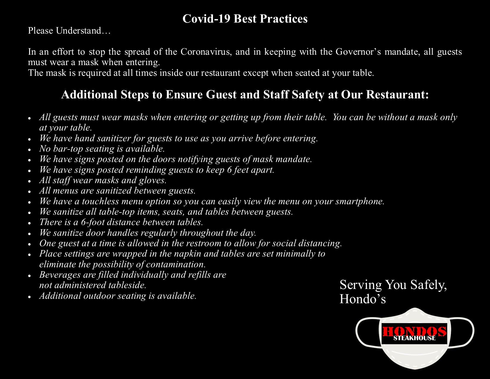 hondos-covid-best-practices